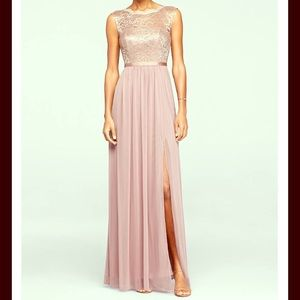 Gorgeous Rose Gold / Pink bridesmaid dress